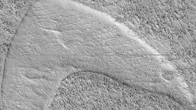 'Star Trek' Logo Shaped Dune Found on Mars