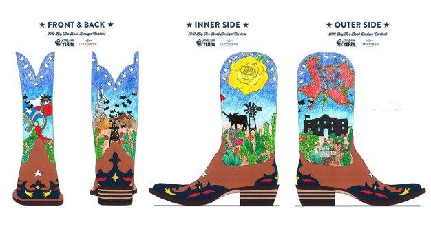 Keller Woman Wins Contest Designing Big Tex's Boots