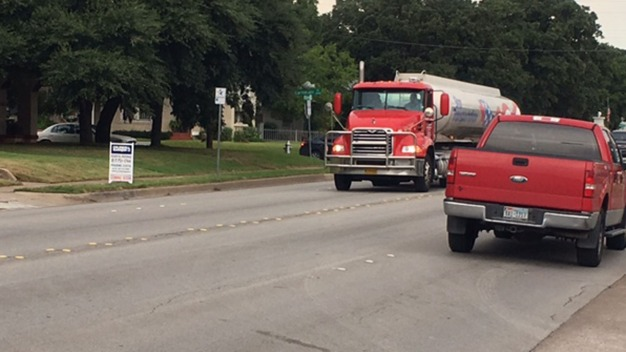 Big Trucks Causing Big Problems on Sylvania Avenue