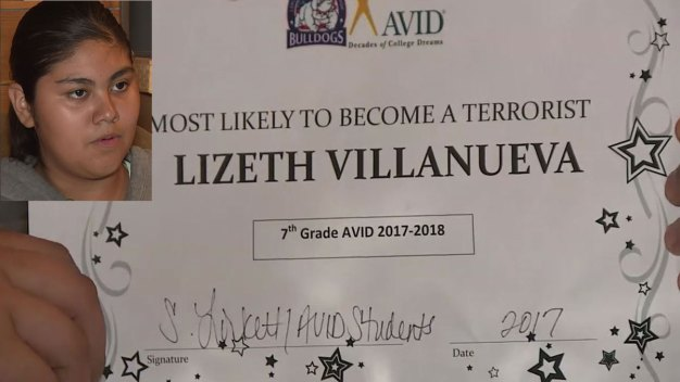 Texas Teachers Give Girl 'Most Likely' Terrorist Award