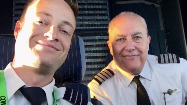AA Trip is Family Affair for Pilot & Son