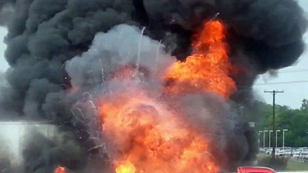 Fiery Crash Closes I-35E at Belt Line Road