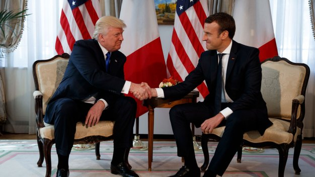 Trump Handshake Showdown: France's Macron Just Won't Let Go