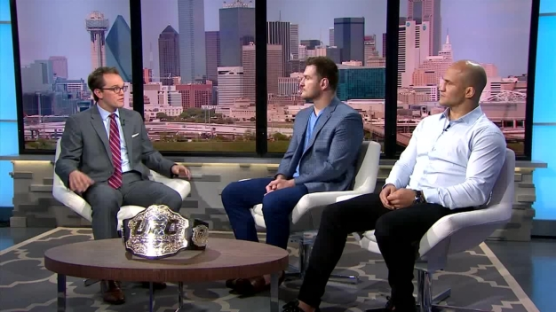 Miocic, Dos Santos Discuss UFC 211 in Dallas