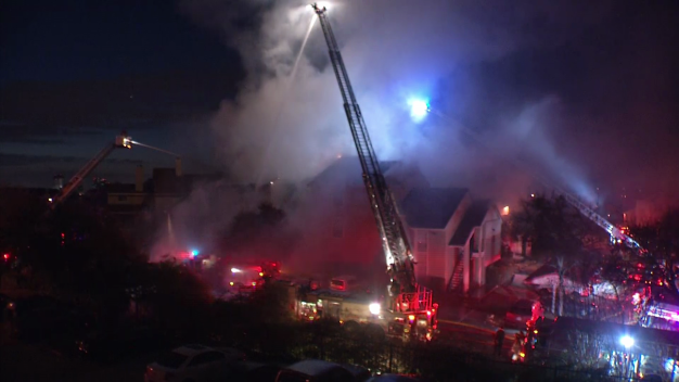 Crews Battle Apartment Fire in Irving