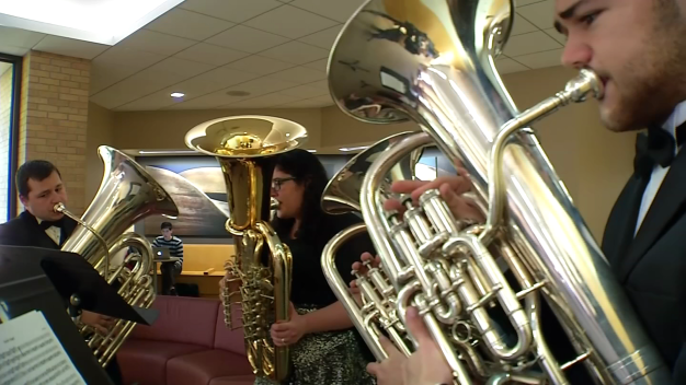 UNT Musicians Offer Surprise 'Tuba Valentines'