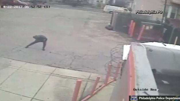 Burglar Warms Up Before Robbery