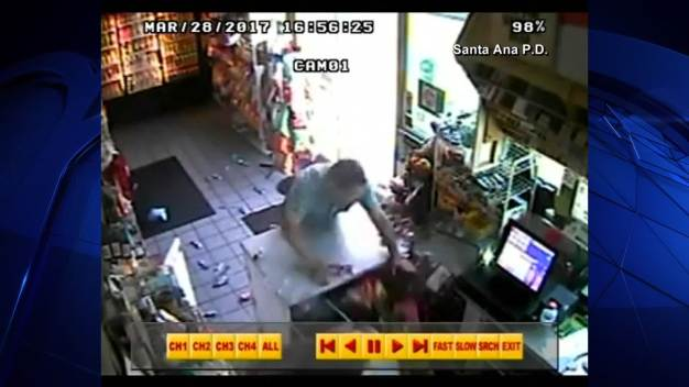 Caught on Video: Angry Customer Throws Items at Clerk