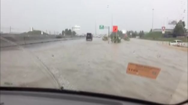 Video Shows Flooding Along Highway 114