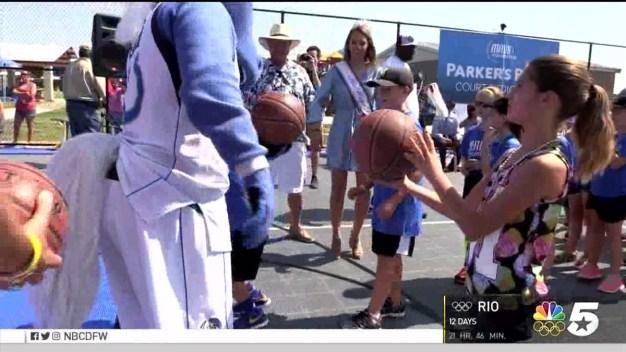 Mavericks Build Basketball Court in West