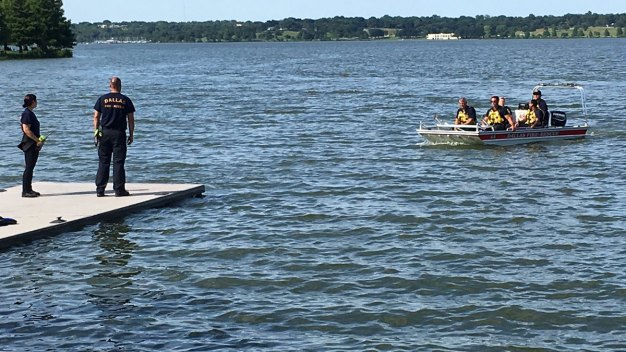 Dive Team Searching for Missing Man at White Rock Lake