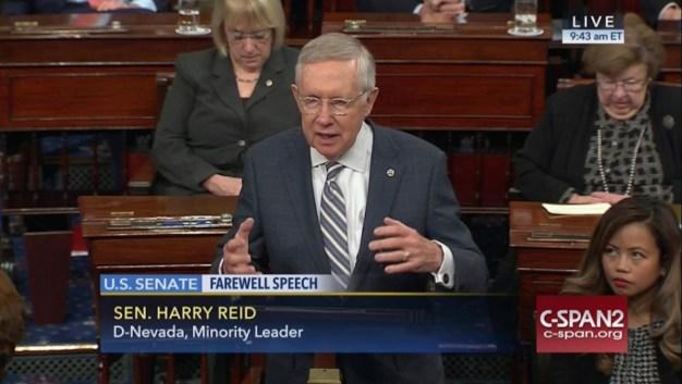 Harry Reid Bids Farewell to Senate After 30 Years