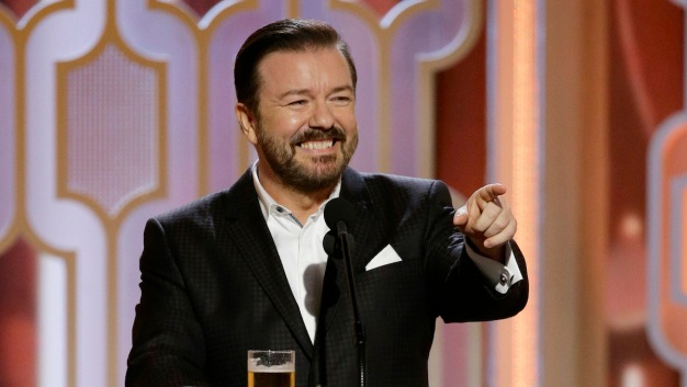 Ricky Gervais Scorches the Globes