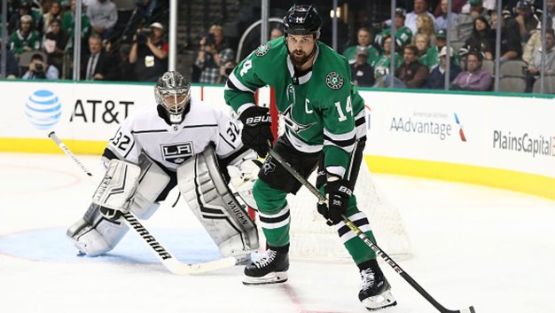 Benn's 5th Goal in 6 Games Helps Stars Beat Oilers