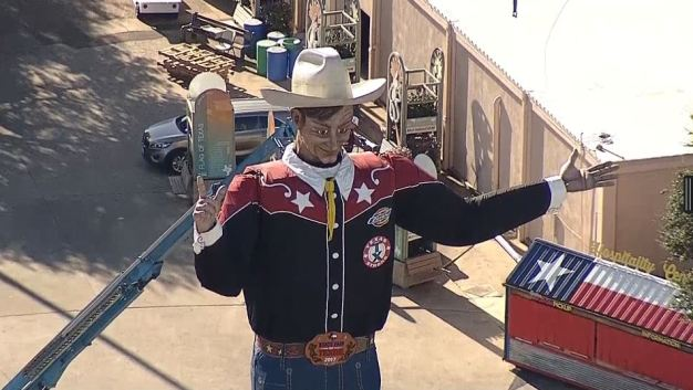 Big Tex Dismantled Wednesday Morning