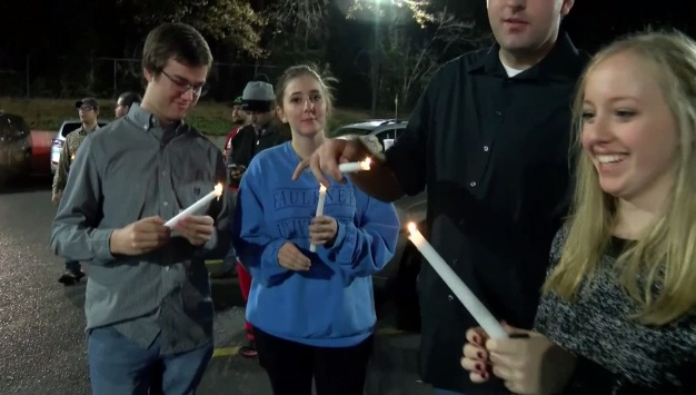 Customers Hold Vigil For Burned Taco Bell