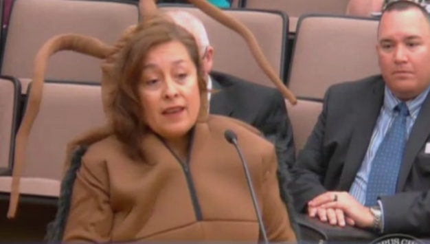 Texas Woman Approaches City Council Dressed As Cockroach}