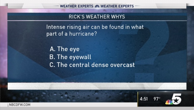 Weather Quiz: What Part of a Hurricane Can Intense Rising Air Be Found?