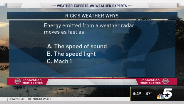 Weather Quiz: Weather Radar Energy