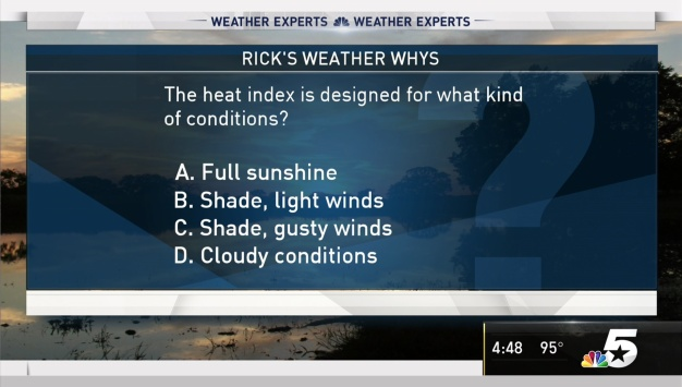 Weather Quiz: Heat Index