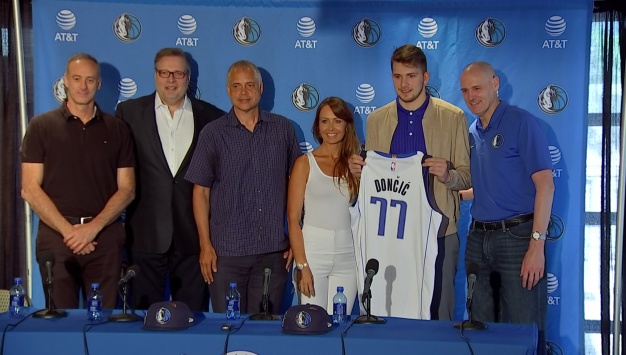 Dallas Mavericks Introduce First Round Draft Pick Luka Donci