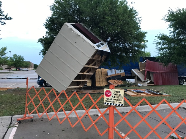 Texas Thunder Truck Surveys Damage in Keller