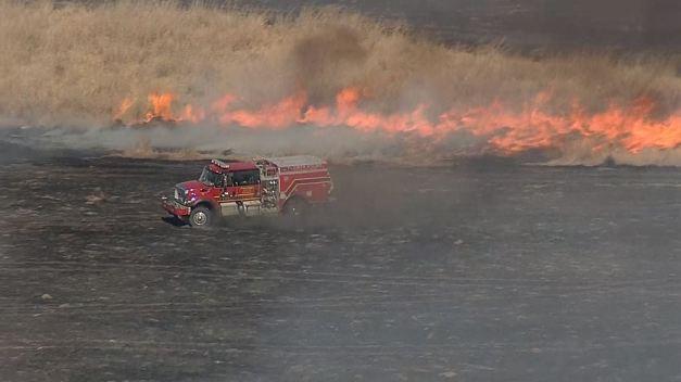 North Texas Wildfires - Jan. 22, 2018