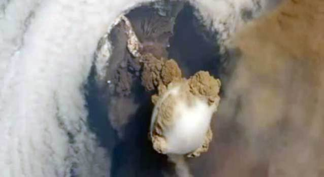 Space Station is in Right Place, Right Time for Volcano