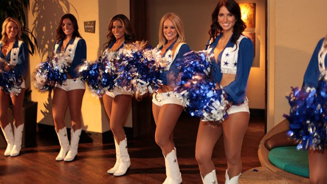 Cowboys Cheerleaders Hold 2012 Calendar Party