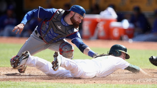 A's Break Out of Slump, Beat Rangers to Avoid Sweep