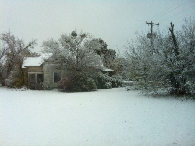 Snow Falls On North Texas - December 5, 2011