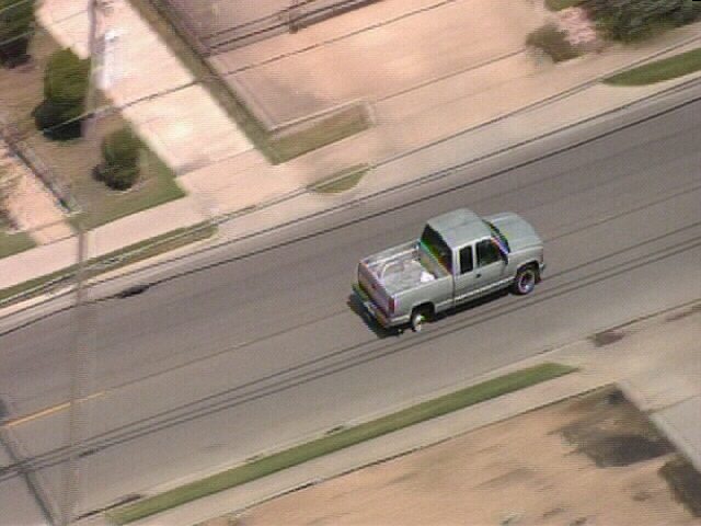 Images: DPD Chases Truck Through Dallas