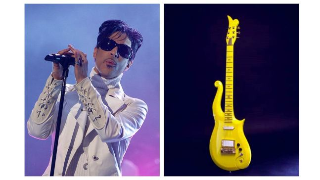 Colts Owner Buys Prince's Yellow Cloud Guitar in LA