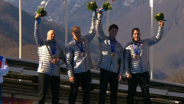 Bobsledder Steven Holcomb Notches Final U.S. Medal in Sochi