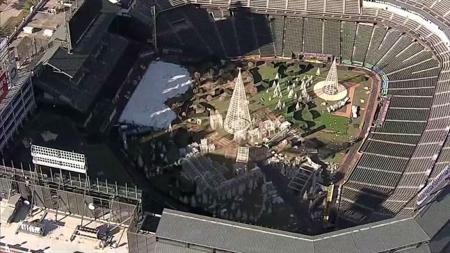 Enchant's Christmas Light Maze Moves Inside Ballpark