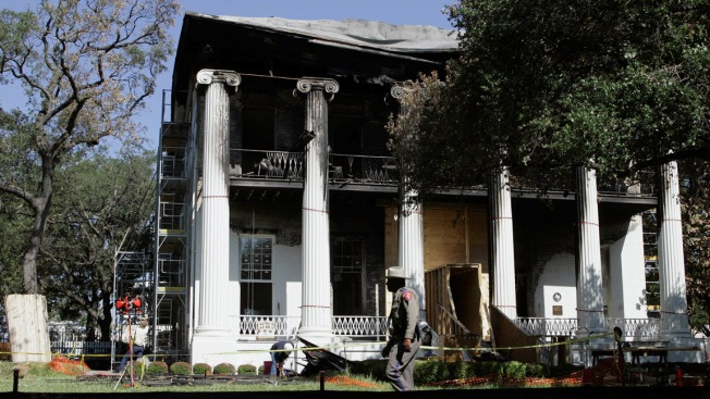 Work Begins to Restore Governor's Mansion Floors Destroyed by Arson