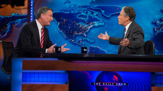 """NYC Mayor Makes Debut on """"The Daily Show"""""""