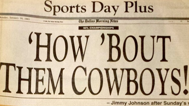 Johnson's 'How Bout Them Cowboys' Exclamation Hits 25-Year Anniversary