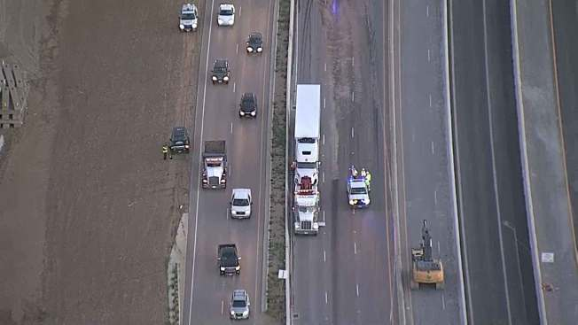 I-35E Reopens in Denton County After 18-Wheeler Crash, Hazmat Spill