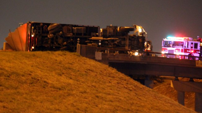Overturned Truck Shuts Down WB SH-183