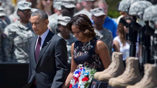 Onlookers Find Consolation in Fort Hood Ceremony