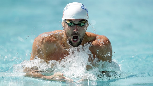 Michael Phelps 3rd in 200 IM in Santa Clara