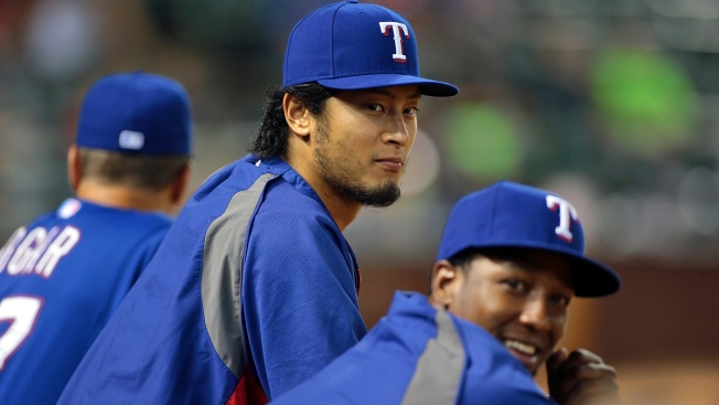 Darvish Throws For First Time Since Surgery