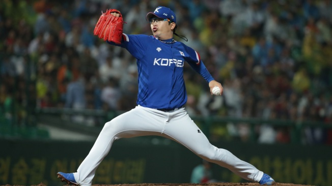 Rangers' Pitch to Korean Lefty Fouled Off