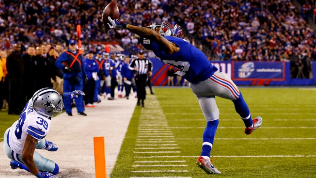Giants Create Flip Book of ODB Catch