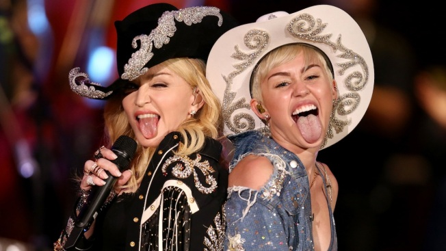 Miley and Madonna Duet for MTV Special