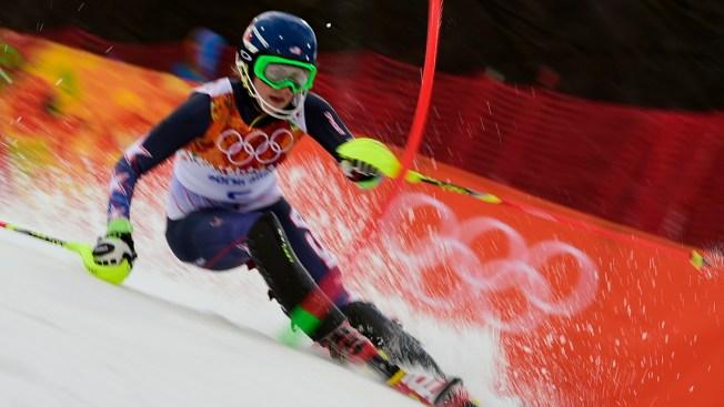 U.S. Teen Shiffrin Leads 1st Run of Olympic Slalom