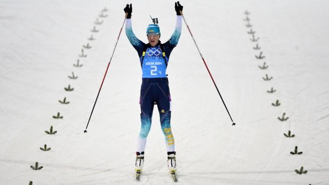 Ukraine Wins Women's Biathlon Relay for 1st Gold