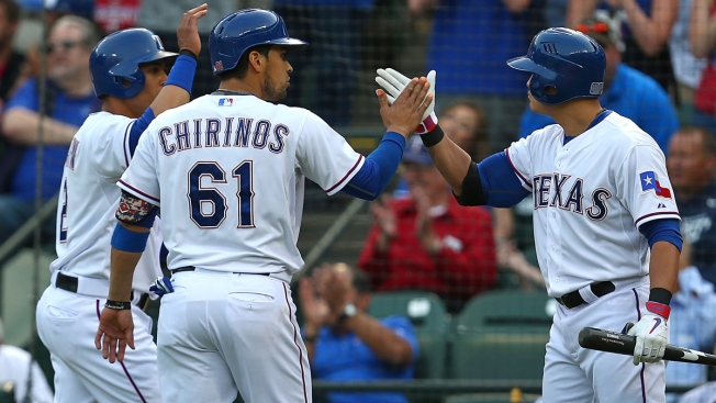 Rangers Bats Show Pop on Chilly Night