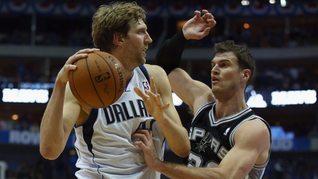 Mavs Up on Spurs Without Huge Game From Nowitzki